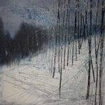 Studio Cenacchi espone di Tangerini il quadro bosco innevato