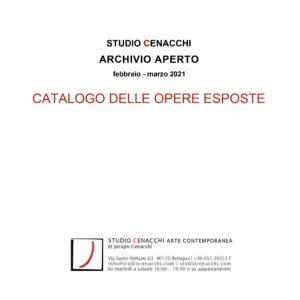 Copertina del pdf Studio Cenacchi Archivio Aperto 2021